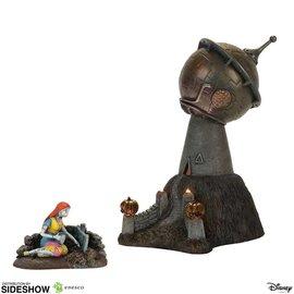 Enesco Figurine - Disney The Nightmare Before Christmas - Observatoire du Dr. Finkelstein et Sally avec Lumière