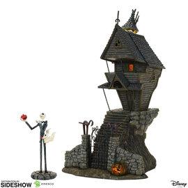 Enesco Figurine - Disney The Nightmare Before Christmas - Maison de Jack Skellington et Zéro avec Lumière