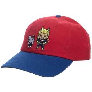 Bioworld Casquette - My Hero Academia X Hello Kitty and Friends - Hello Kitty et All Might Rouge et Bleue