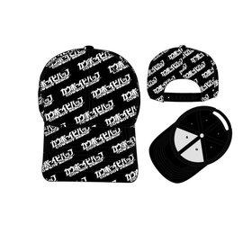 Bioworld Baseball Cap - Cowboy Bebop - All Over Logo Black Snapback Adjustable