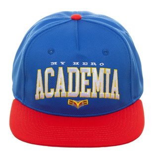 Bioworld Casquette - My Hero Academia - Logo et All Might Brodée Bleue et Rouge Snapback Ajustable