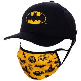 Bioworld Baseball Cap - DC Comics Batman - Classic Logo Black with Face Mask