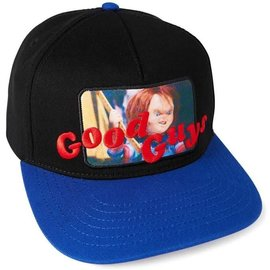 Bioworld Baseball Cap - Child's Play - Good Guys and Chucky Patch Black and Blue Adjustable