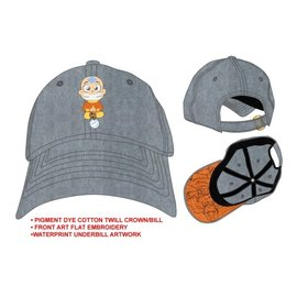 Bioworld Baseball Cap - Avatar The Last Airbender - Aang on his Air Scooter Embroidered Grey Adjustable