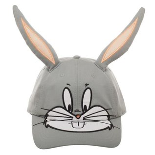 Bioworld Casquette - Looney Tunes - Bugs Bunny avec Oreilles 3D Grise Ajustable