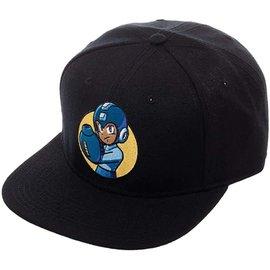 Bioworld Baseball Cap - Capcom Mega Man - Mega Man Embroidered Black Adjustable Snapback
