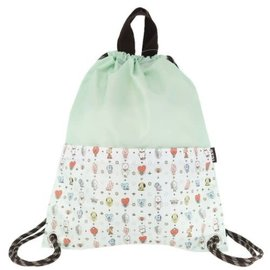 Ensky Studio Backpack - BT21 Line Friends - Characters White and Green Drawstring Bag