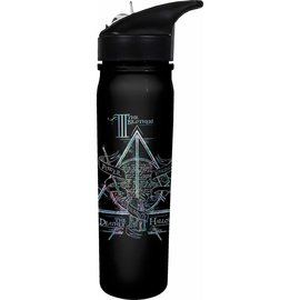 Spoontiques Travel Bottle - Harry Potter - The Deathly Hallows Black and Silver 24oz