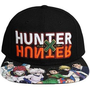 Bioworld Casquette - Hunter X Hunter - Logo Brodé et Personnages Noire Snapback