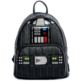 Loungefly Mini Sac à Dos - Star Wars - Uniforme de Darth Vader avec Lumières en Faux Cuir