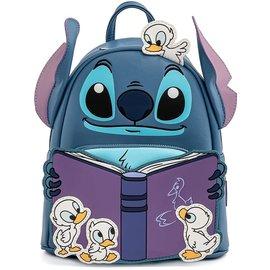 Loungefly Mini Sac à Dos - Disney Lilo & Stitch - Le Temps d'une Histoire de Canard! en Faux Cuir