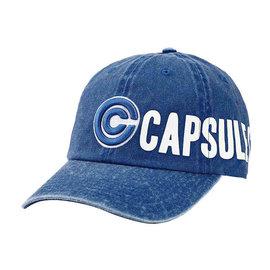 Bioworld Casquette - Dragon Ball Z - Capsule Corp. Brodée Bleue en Denim Ajustable