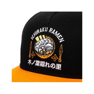 Bioworld Casquette - Naruto Shippuden - Ichiraku Ramen Shop Brodée Noire et Orange Snapback