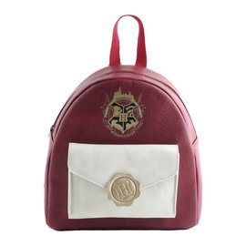 Bioworld Mini Backpack - Harry Potter - Crest and Acceptation Letter Red and White Faux Leather