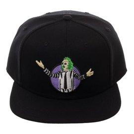 Bioworld Baseball Cap - Beetlejuice - Beetlejuice Embroidered Black Snapback Adjustable