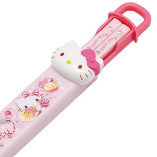 Skater Baguettes - Sanrio Hello Kitty - Visage de Hello Kitty 3D 18cm avec Étui