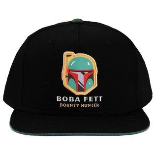 Bioworld Casquette - Star Wars - Boba Fett Bounty Hunter Taille Enfant Noire Snapback Ajustable