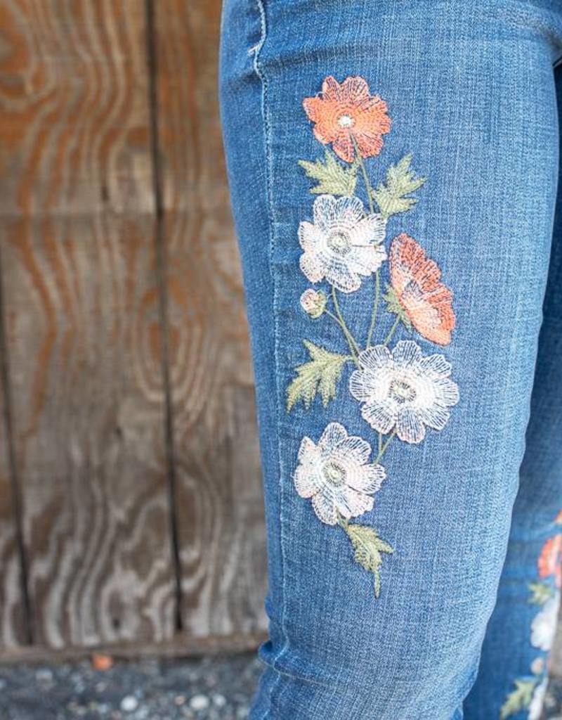 Floral Sheridan Skinny Jean