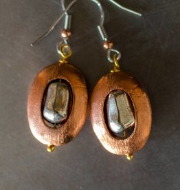 Copper Circular Earrings