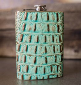 Cowgirl 8 oz Leather Flask