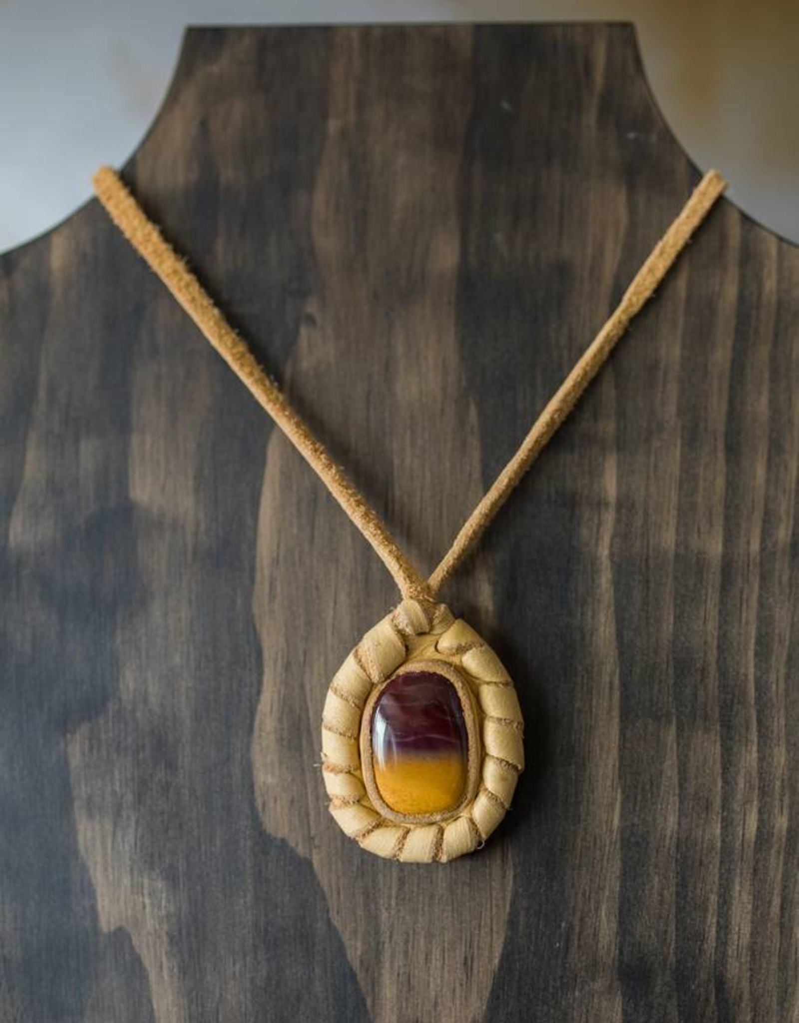 Handmade Leather Necklace (light leather)
