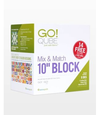 "Accuquilt Go! Qube Mix & Match 10"" Block"