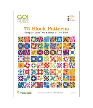 "GO! Qube 12"" Block-72 Block Patterns Booklet"