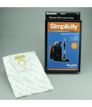 Simplicity Vacuum Bags Type H 6pk