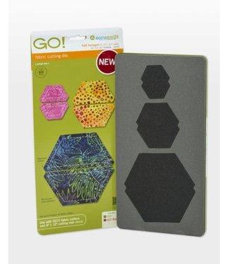 """Accuquilt GO! Half Hexagon - 1"""", 1 1/2"""", 2 1/2"""" Sides"""