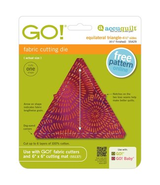 "Accuquilt Go! Equilateral Triangle - 4 1/2"" Sides (4 1/4"" Finished)"