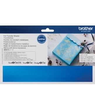 Brother Brother Scan n Cut Foil Transfer Sheets - Blue