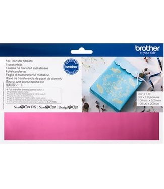 Brother Brother Scan n Cut Foil Transfer Sheets - Pink