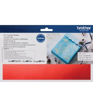 Brother Brother Scan n Cut Foil Transfer Sheets - Red