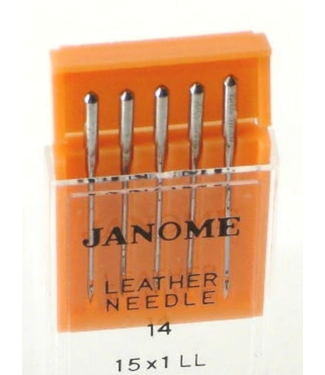 Janome Janome Leather Needles Sz14 5pk