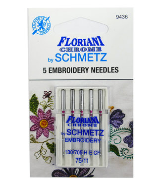 Floriani Floriani Chrome Embroidery 75/11 Needles