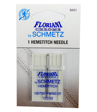 Floriani Floriani Chrome Wing/Hemstitch 120/19 Needle