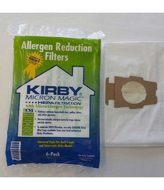 Kirby Vacuum Micron Magic Hepa Universal Fit Bag 6pk