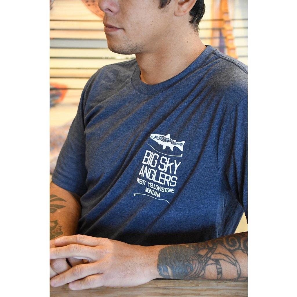 Big Sky Anglers BSA Stack Logo T-Shirt