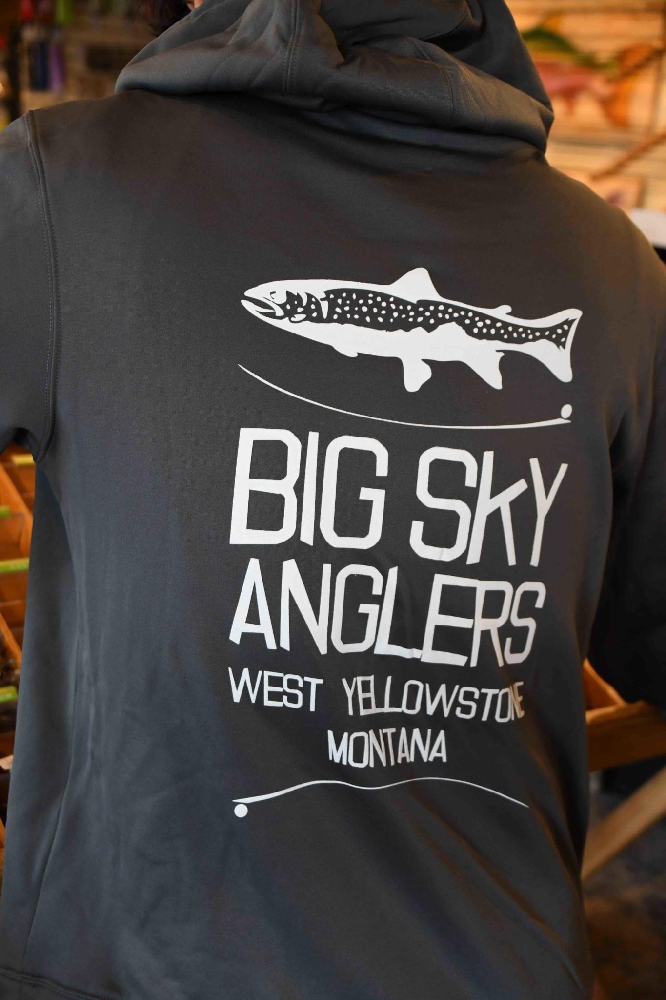 Big Sky Anglers Big Sky Anglers Stack Logo Hoodie