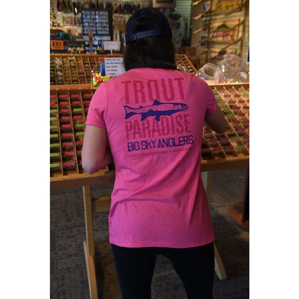 Big Sky Anglers BSA Trout Paradise Women's T-Shirt