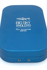 Big Sky Anglers Big Sky Anglers Metal Fly Box Slit Foam Fly Box Blue