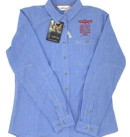 Big Sky Anglers BSA Stack Orvis Women's Tech Chambray Work Shirt