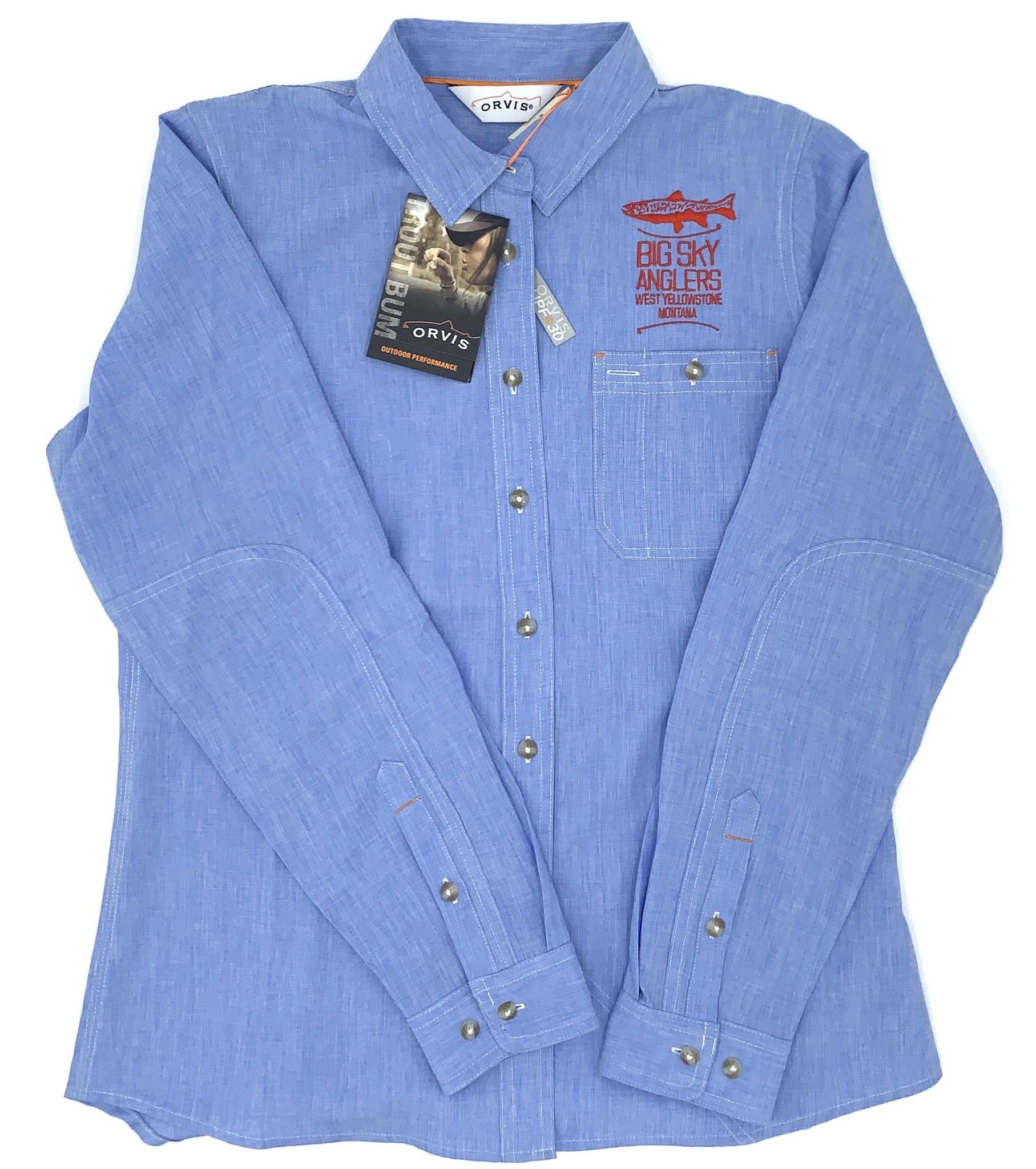 Big Sky Anglers BSA Stack Orvis Women's Tech Chambray Work Shirt