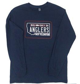 Big Sky Anglers BSA License Plate L/S Tee