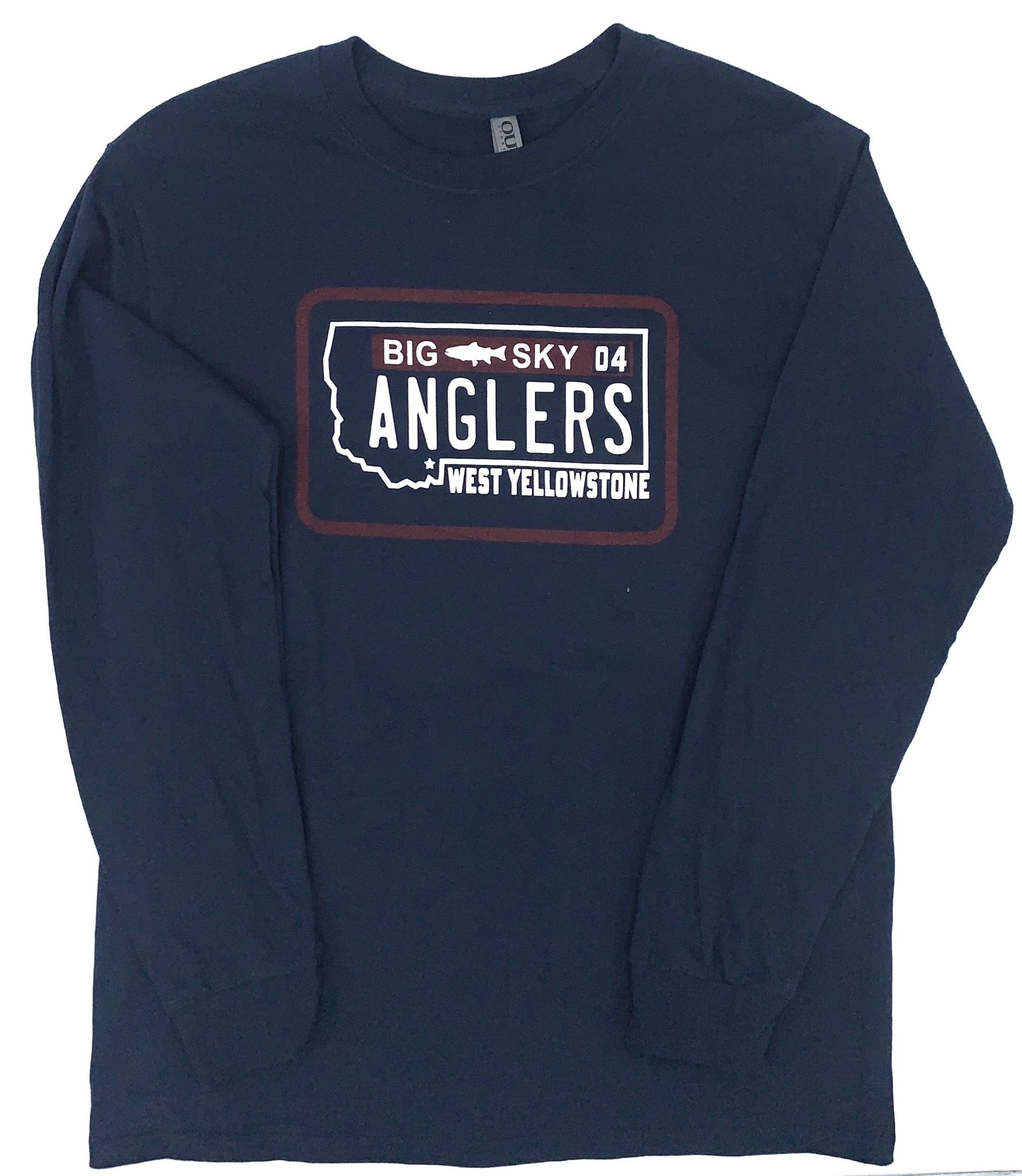 Big Sky Anglers BSA License Plate L/S Tee