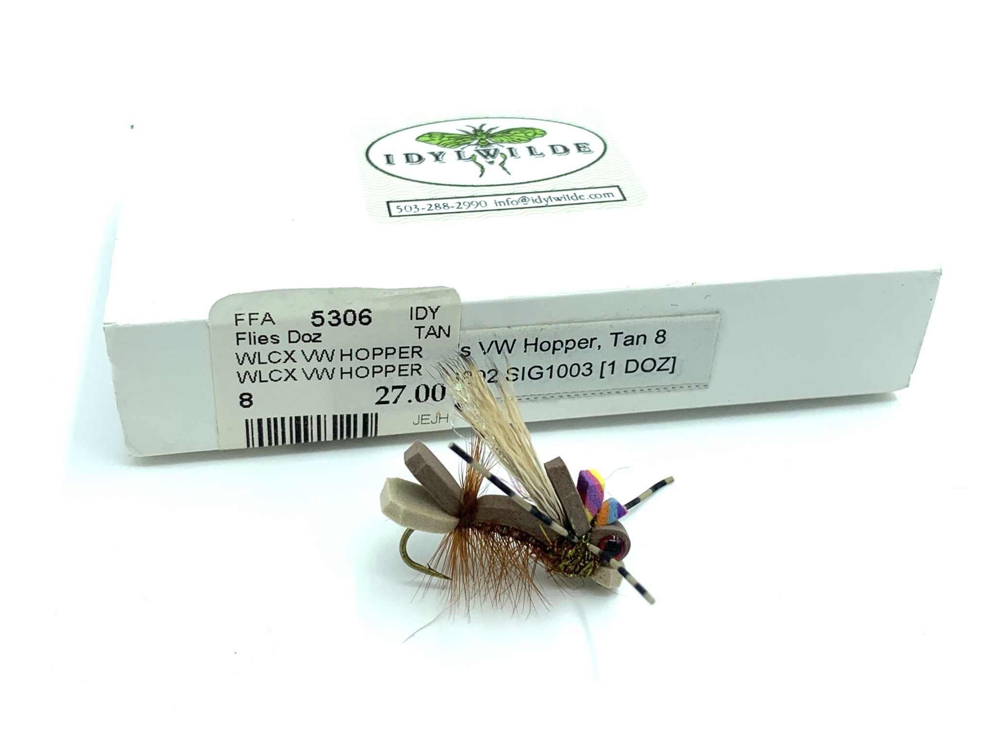 Idylwilde Flies Wilcox VW Hopper Tan 8