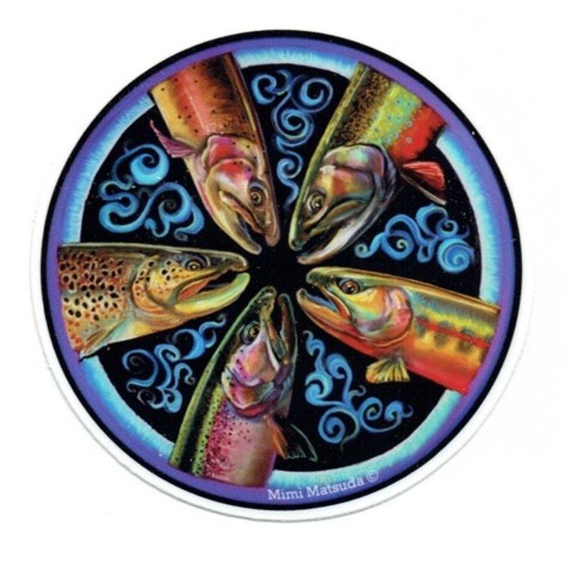 Mimi Matsuda  Trout Mandala Sticker