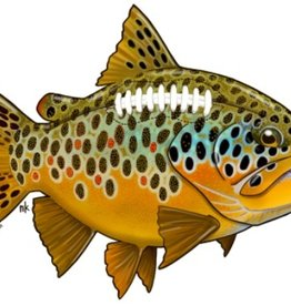 Remedy Provisions Remedy Provisions Brown Trout Football Sticker
