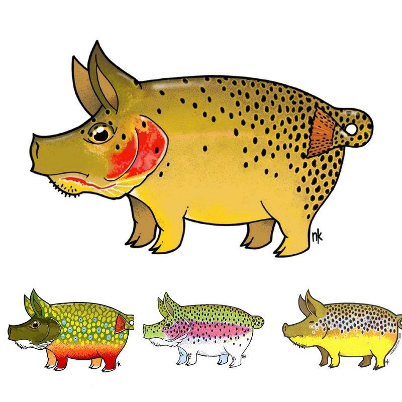 Casey Underwood Art Remedy Provisions Pig Sticker