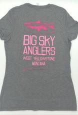 Big Sky Anglers BSA Stack Logo  Women's T-Shirt